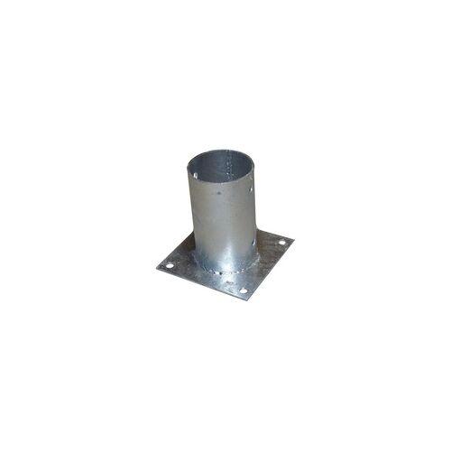 WoodLine Aufschraubhülse rund mit Platte 16 x 16 cm, 15 cm lang - 1 Stück