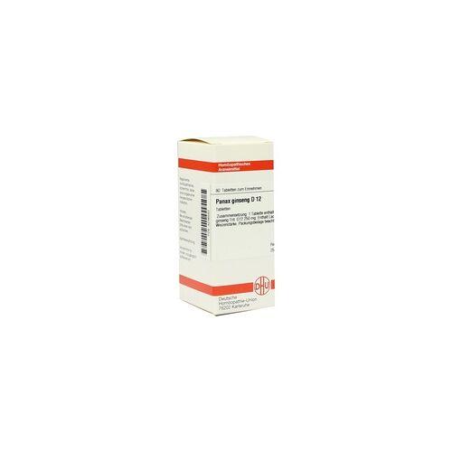 DHU-ARZNEIMITTEL Panax Ginseng D 12 Tabletten 80 St