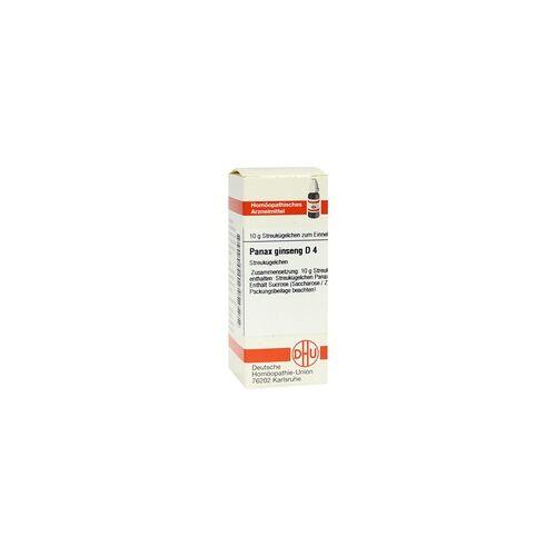 DHU-ARZNEIMITTEL Panax Ginseng D 4 Globuli 10 g