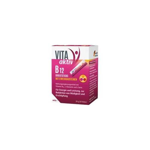 Mibe Vita Aktiv B12 Direktsticks mit Eiweißbausteinen 20 St