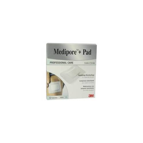 3M MEDIPORE+Pad 3M 5x7,2cm 3562Np Pflaster 5 St