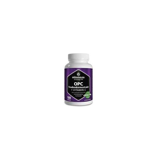 Vitamaze OPC Traubenkernextrakt hochdosiert+Vitamin C Kaps. 180 St