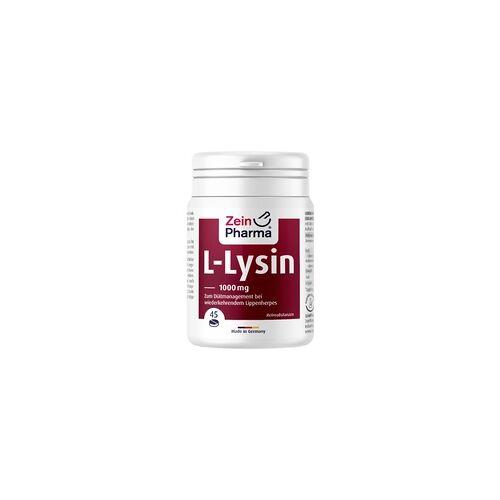 ZeinPharma L-Lysin 1000 mg Zitrone Kautabletten 45 St