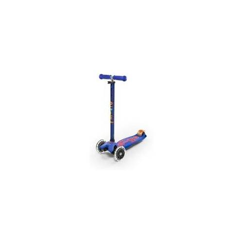 Micro Mobility Maxi Micro Deluxe LED Kinderroller, Farbe: red