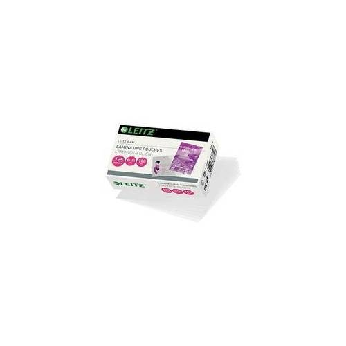 Leitz 100 LEITZ Laminierfolien glänzend für Kreditkartenformat