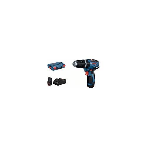 Bosch Schlagbohrmaschine GSB 12V-35: 2 x Akku GBA 12V 3.0Ah, Schnellladegerät, L-BOXX