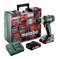 Metabo Akku-Schlagbohrschrauber SB 18 L Set Mobile Werkstatt; Kunststoffkoffer; 18V 2x2Ah Li-Ion + SC 30