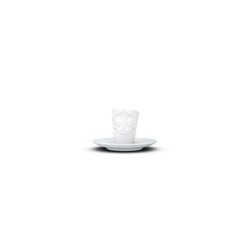 fiftyeight Espresso Mug Vergnügt weiß