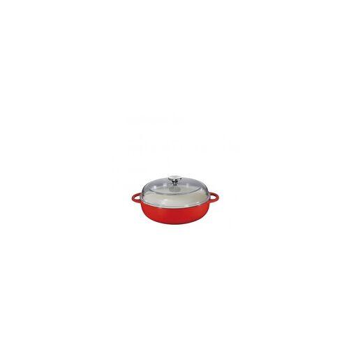 Küchenprofi Bauernpfanne rot mit Deckel 28 cm