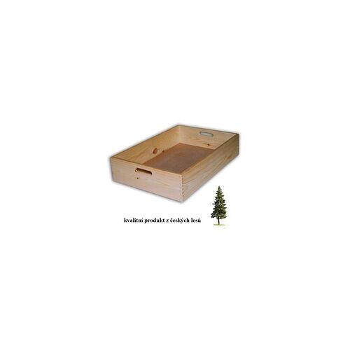 Biedrax HOLZKISTE 60 X 40 X 13 CM - BIEDRAX - FARBLOSER LACK