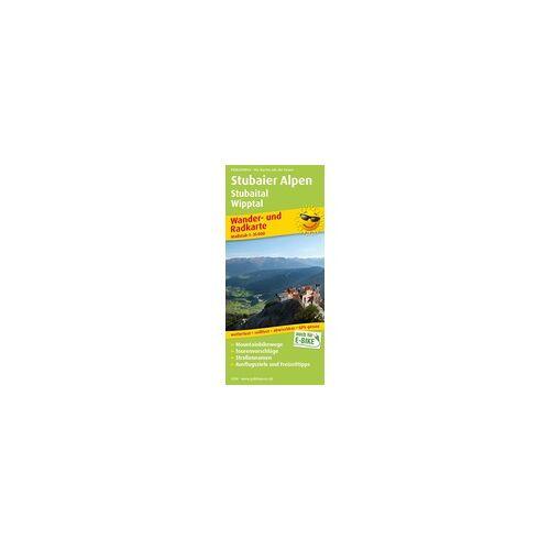 Stubaier Alpen Stubaital Wipptal Wander- und Radkarte 1 : 35 000