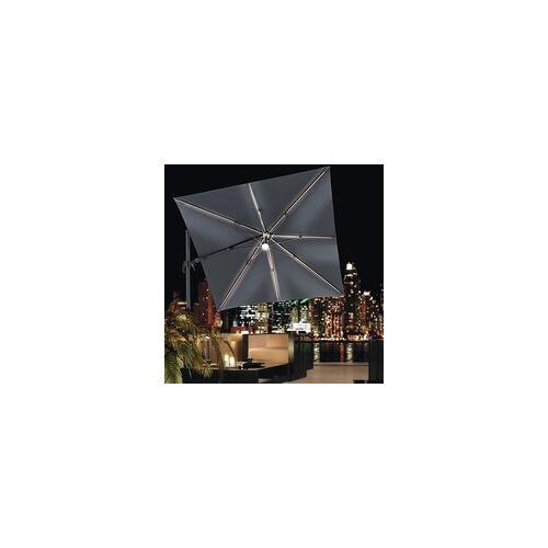 """Derby Sonnenschirm / Ampelschirm """"Ravenna AX LED 250 x 250"""",anthrazit,250 x 250 cm"""