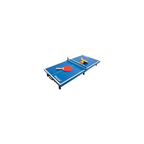 Donic Schildkröt Donic Tischtennis-Mini-Tisch-Set, Mini-Tischtennistischplatte, komplettes Set mit 2 Schlägern und 1 Ball,blau,