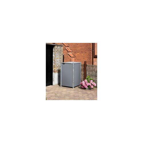 HIDE Hide Mülltonnenbox 240l Kunststoff; 1er Box,grau,