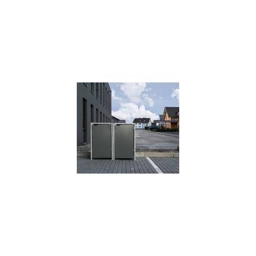 HIDE Hide Mülltonnenbox 140l Kunststoff; 2er Box,grau,