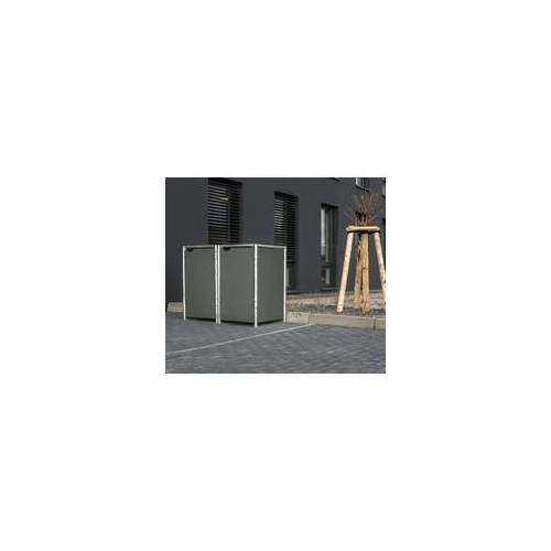 HIDE Hide Mülltonnenbox 240l Kunststoff; 2er Box,grau,