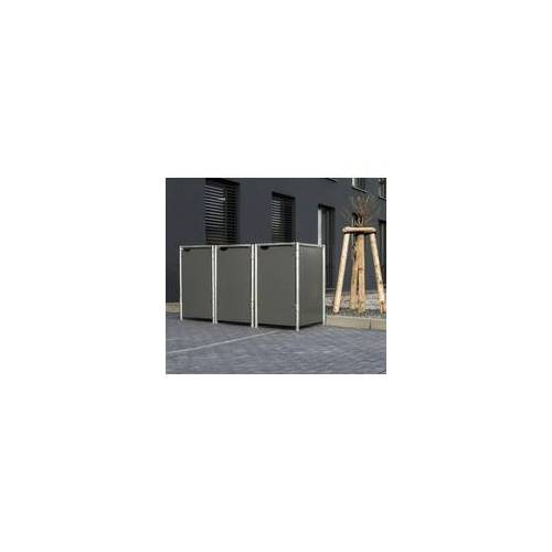 HIDE Hide Mülltonnenbox 240l Kunststoff; 3er Box,grau,