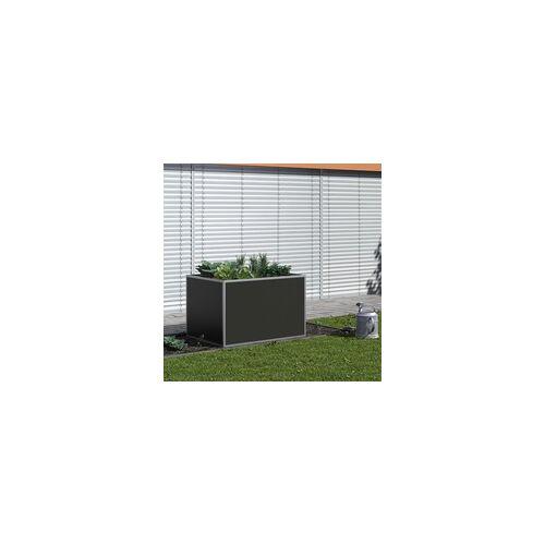 """KGT Aluminium-Hochbeet """"130"""",silber,1,21 x 0,91 x 0,77 m (L x B x H)"""