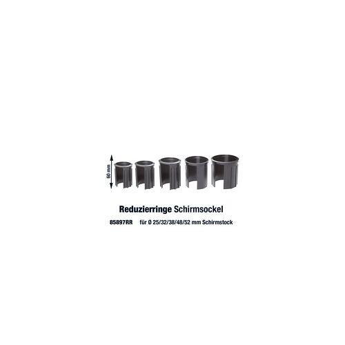 Doppler Granitsockel-Reduzierringe für Schirmstock Ø 25, 32, 38, 48, 52 mm,schwarz,