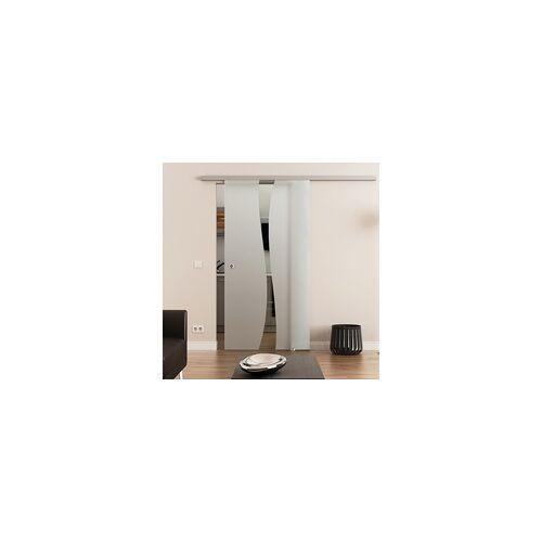 Dormakaba Glasschiebetür, DORMA Muto 60-Beschlag, 1-flg. Satiniert B