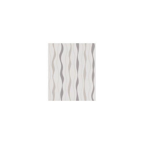 Rasch Vliestapete Streifen weiß 10,05 x 0,53 m