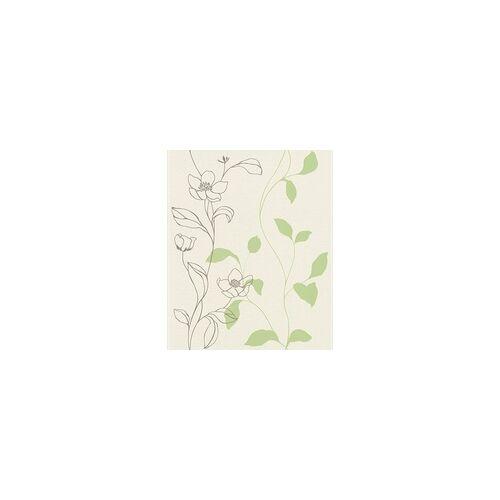 Rasch Vliestapete Hot Spot Blume grün, 10,05 x 0,53 m