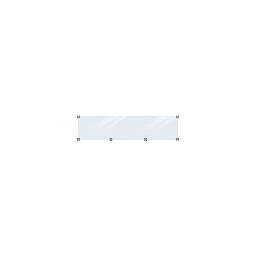 Plus Glaselement 174 x 44,6 cm, 6 mm Glas inkl. Beschläge/Glasleisten