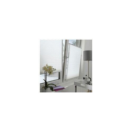 Gardinia Plissee DIE HALBE WABE weiß, 120 x 130 cm