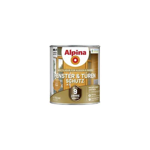 Alpina Fenster- und Türen-Schutz 0,75 l, teak