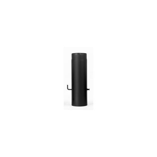 FireFix Ofenrohr Ø 130 mm, 50 cm, mit Drosselklappe, schwarz