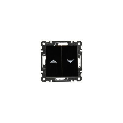 uniTEC Elektro Unitec Jalousie-Schalter Karea, schwarz