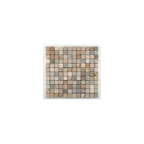 KNG Mosaikfliese Quarzit quadratisch 30,5 x 30,5 x 1,0 cm, grau / beige mix