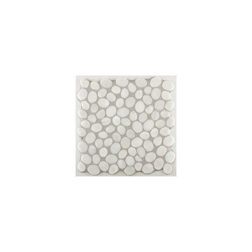 KNG Marmor-Kieselmosaik weiß 30,5 x 30,5 x 1 cm, R10 C, weiß