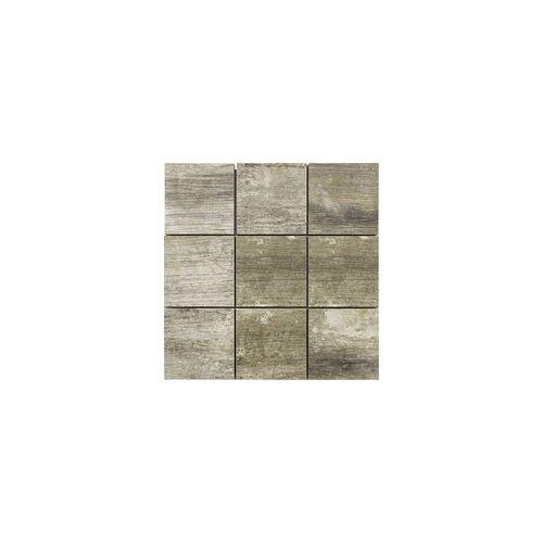 KNG Feinsteinzeug Mosaikfliese Holzoptik antik 29,8 x 29,8 cm, Abr. 4, R10/B, antik
