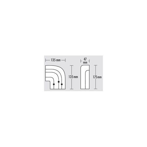 Gardinia Vorhangschiene GE 3-läufig, weiss, 300 cm
