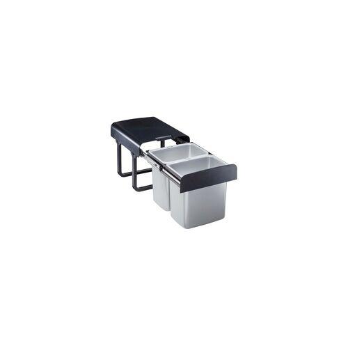 TrendLine Einbau-Mülltrennungssystem 2 x 16 l, Auszug: 470-980 mm