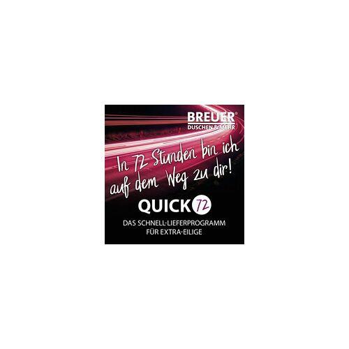 Breuer Fara 4 Eckeinstieg Schiebetür 80-90 x 185, Alu silber matt, Kunststoffglas