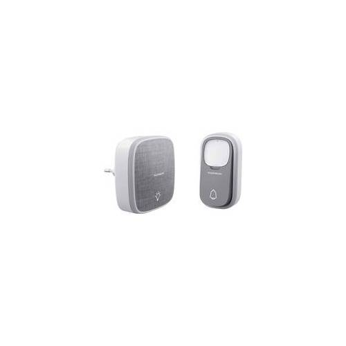 weitere Thomson Funk-Türklingel drahtlose Klingeltaste ohne Batterie grau