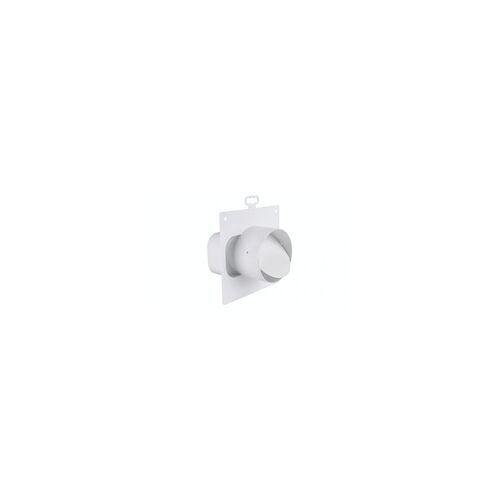 Marley Adapter (rund/eckig), mit Rückstauklappe Rohranschluss Ø 100 mm an Flachkanal 125, mit Rückstauklappe, Weiß