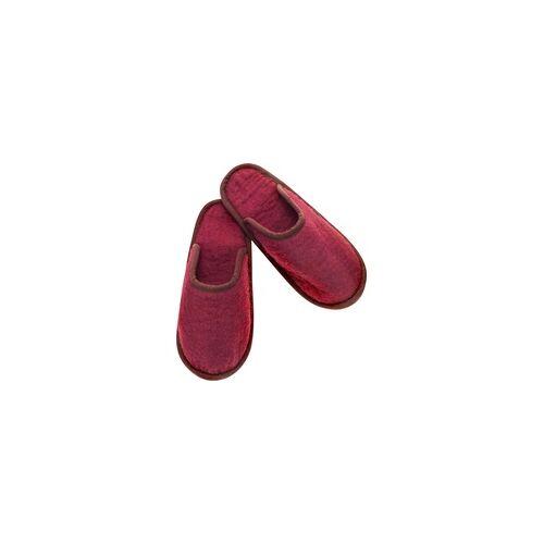 Glorex Filz-Pantoffel rot Größe L ( 43-44 )