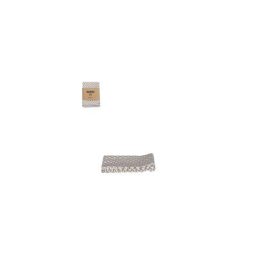 Mica Serviette Badhi taupe 40 x 40 cm