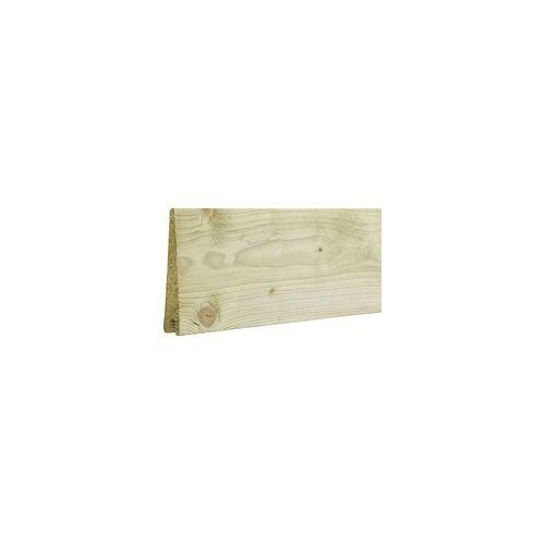 PLUS Klink Profilbrett 27/7x140 mm x 177cm, DeckBreite: 12,5 cm, Holzart Kiefer/Fichte, chromfrei druckimprägniert