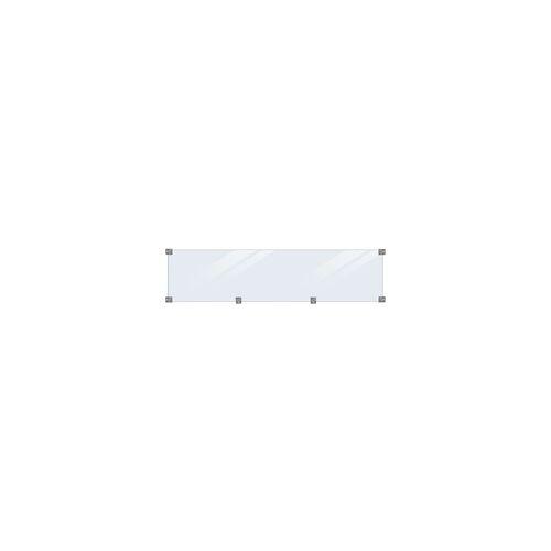 Plus Glaselement 175 x 44,6 cm, 6 mm Glas inkl. Beschläge/schwarze Glasleisten