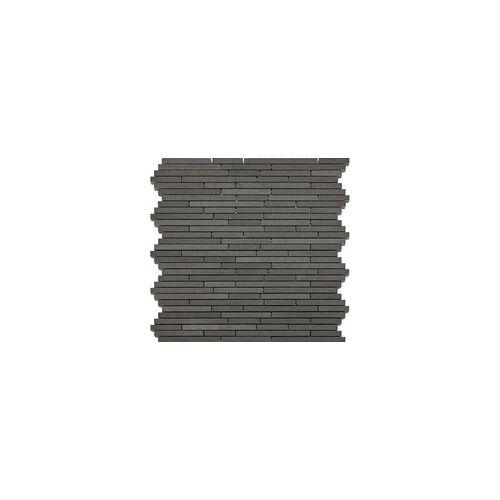 KNG Basaltmosaik Mini-Sticks 30,5 x 30,5 x 1,0 cm, schwarz/grau