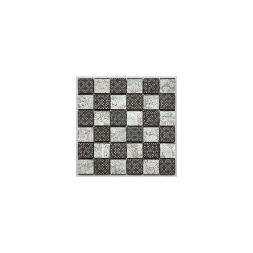 KNG Glasmosaik ANTIK Maxi-Glas 5 x 30 cm, grau