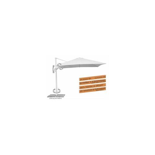 Schneider Schirme Schneider Sonnenschirm Rhodos Twist Bianco weiß, 300 x 300 cm