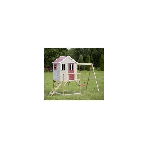 Wendi Toys Kinderspielhaus Zebra Spielturm inkl. Veranda und Schaukel