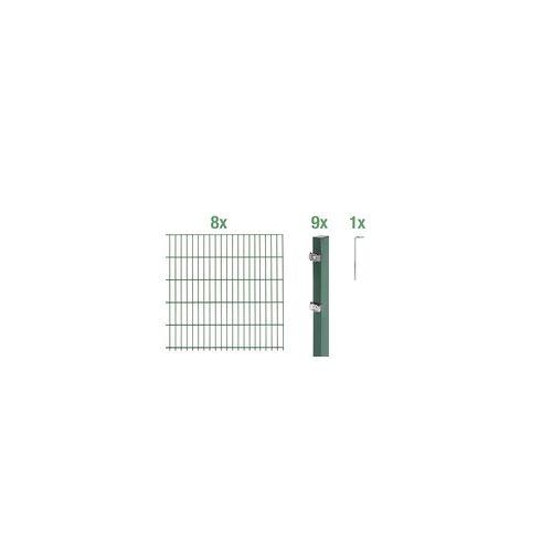 GAH Alberts Doppelstabmatten-Grundset 16 m 200 x 80 cm, Type: 6/5/6, grün