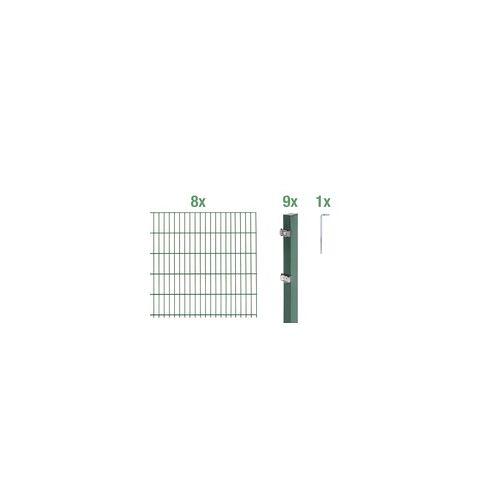 GAH Alberts Doppelstabmatten-Grundset 16 m 200 x 140 cm, Type: 6/5/6, grün