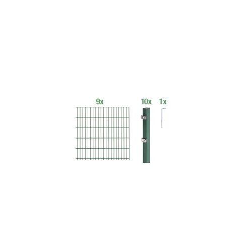 GAH Alberts Doppelstabmatten-Grundset 18 m 200 x 160 cm, Type: 6/5/6, grün